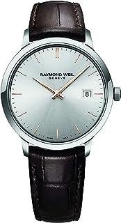 ساعة RAYMOND WEIL للرجال TOCCATA من الفولاذ السويسري من الكوارتز مع حزام على شكل تمساح ، بني، 19 ساعة عادية (الموديل: 548...