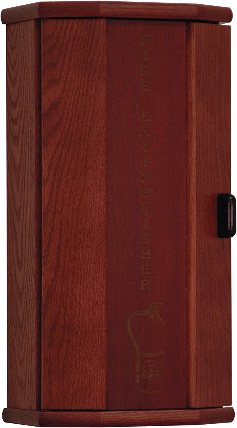 Wooden Mallet Fire Extinguisher Cabinet, 5-Pound, Mahogany Engraved