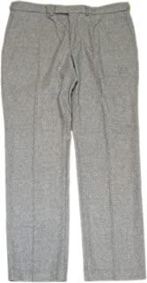 Polo Men Flannel Fine Merino Wool Dress Pants Adjustable Grey 38/32