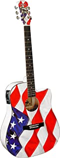 INDIANA USA-1CE エレアコ, Red White and Blue アコースティックギター アコギ ギター (並行輸入)