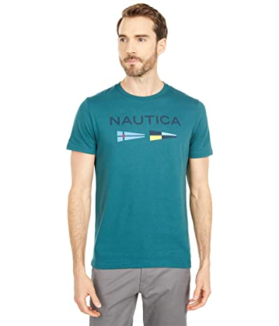 Nautica Signal Flags Graphic T-Shirt (Deep Atlantic) Men