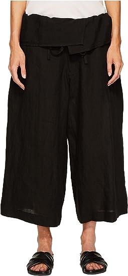 Y's by Yohji Yamamoto - U-Waist Fold-Over Pants