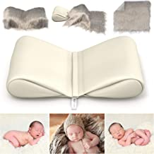 Newborn Photography Props Bundle - Infant Butterfly Posing Pillows & Soft Fur Mat - Basket Filler & Poser for Babies - DIY BabyPhotoshoot for Professional Photos - Wedge & Blanket - by ModTickles