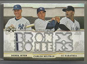 2014 Topps Triple Threads Baseball Bronx Bombers 12 Piece Jersey Card # 36/36 Derek Jeter-Carlos Beltran-C.C. Sabathia