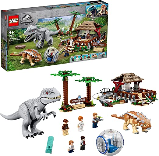 LEGO 75941 Jurassic World Indominus Rex vs. Ankylosaurus, Dinosaurios Juguete para Niños