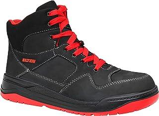 ELTEN Obuwie ochronne MAVERICK black-red Mid ESD S3, męskie, sportowe, sneakersy, lekkie, czarne/czerwone, stalowe noski -...