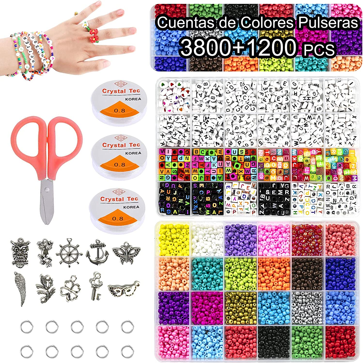 Bead Bracelet Making Kit 3800pcs 4mm Denver Mall Seed and Industry No. 1 p 1200 Glass Beads