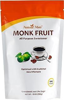 Natural Mate Monkfruit Sweetener with Erythritol (10oz) 3Pack - All Purpose Granular Natural Sugar Substitute - 1:2 Sugar ...