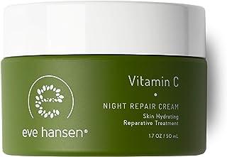 Eve Hansen Dermatologist Tested Vitamin C Face Cream   Premium Hypoallergenic Moisturizer   Fragrance Free Anti-Aging Nigh...