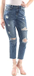 American Rag Juniors' Ripped Cropped Girlfriend Jeans