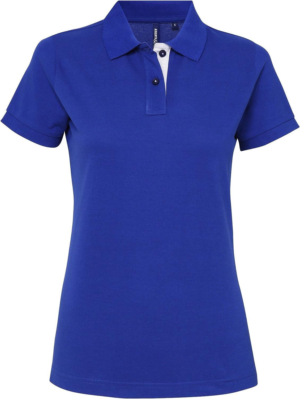 Asquith & Fox Womens/Ladies Short Sleeve Contrast Polo Shirt