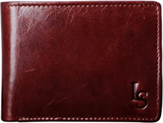 LOUIS STITCH Legendary Men's Wallets || Genuine Leather Wallet for Men Gents || (Italy_W05) (Rosewood)