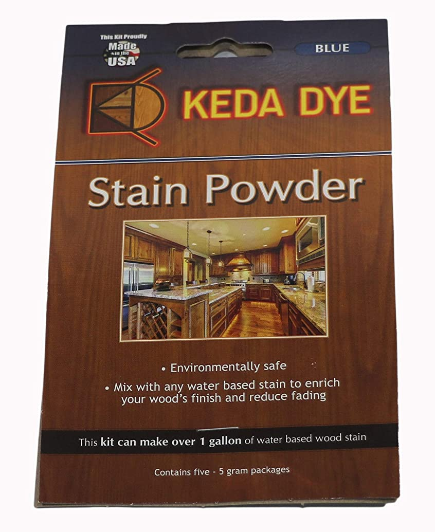 Blue Dye Keda Royal Blue Powder Wood Dye 25 Grams Makes 1 Gallon Blue Stain Color