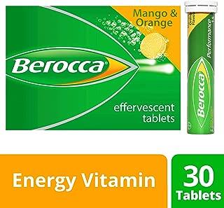 Berocca Performance 30 Effervescent Tablets- Mango & Orange Flavor International Version Caffeine Free