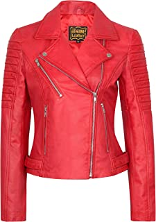 SKYLINEWEARS Women's Lambskin Leather Bomber Motorcycle Biker Real Leather Jacket