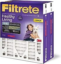 Filtrete 16x25x4(SlimFit), AC Furnace Air Filter, MPR 1550 DP, Healthy Living Ultra Allergen Deep Pleat, 2-Pack (Renewed)