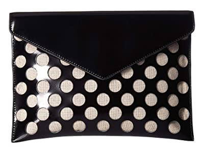 Rebecca Minkoff Perf Leo Clutch (Black) Handbags