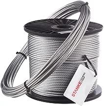 STEIGNER Cord/ón de Fibra de Vidrio SKD02-12 1 m Blanco Sellador Resistente a Temperaturas hasta 550/°C 12 mm