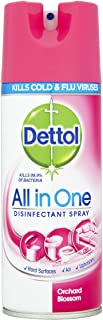 12 x Dettol All in One Disinfectant Spray Orchard Blossom 400mL