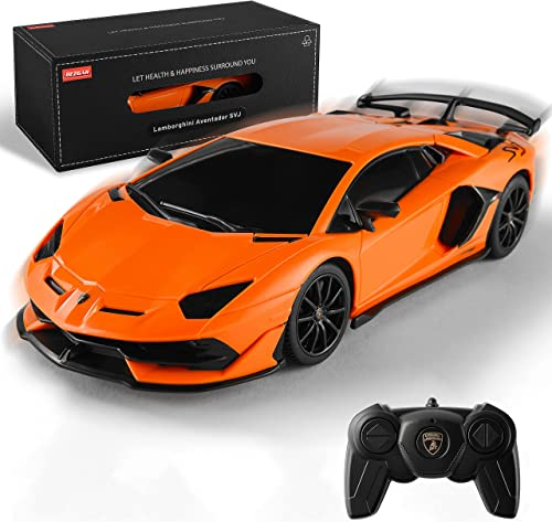 new arrival BEZGAR X RASTAR Licensed RC Series, 1:24 Scale Remote Control Car Lamborghini Aventador SVJ Electric wholesale Sport Racing Hobby Toy Car Model Vehicle for Boys and Girls Teens and Adults Gift discount (Orange) outlet sale