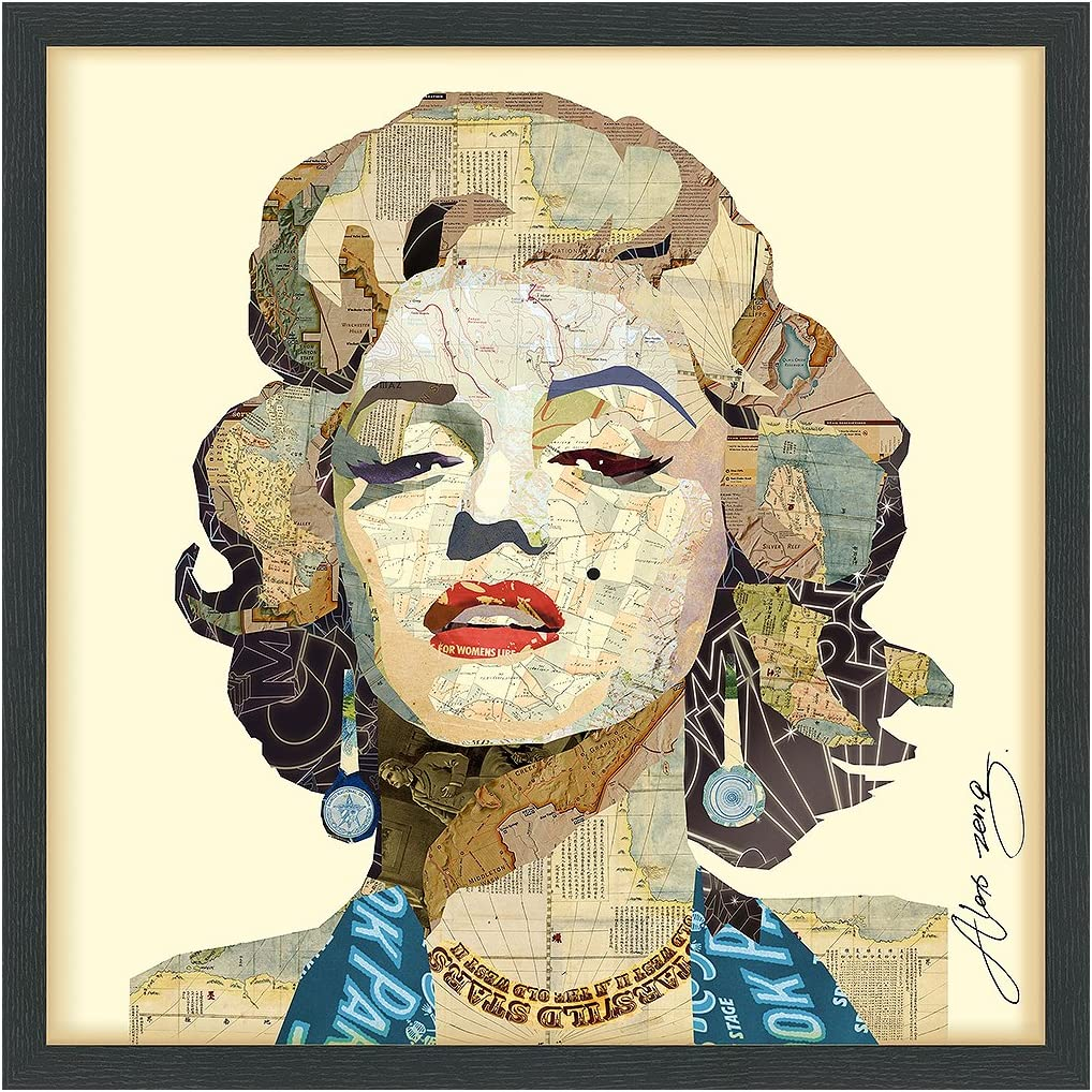 Empire Art Direct Homage to Max 88% OFF Safety and trust Handmade Dimensional Marilyn Collage