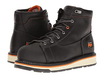 Timberland PRO Gridworks 6 Alloy Safety Toe Boot (Black Full-Grain Leather) Men