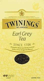Twinings Earl Grey Schwarztee  loser Tee 200g, Hochwertiger Schwarzer Tee lose  Mit Bergamotte Aroma  Tea 1er Pack 1 x 200 g