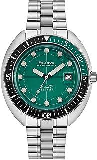 Bulova - 96B322 Reloj de pulsera automático de acero inoxidable con esfera verde para hombre