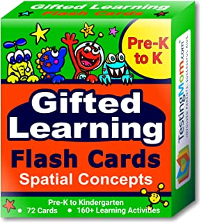 Gifted Learning Flash Cards – Visual Spatial Concepts for Pre-K – Kindergarten – 1st Grade – Educational Practice for The NNAT Test, CogAT Test, OLSAT Test, WPPSI, WISC, AABL, KBIT, SAGES and More!