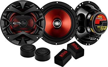"""$37 » 2) BOSS CH6CK 6.5"""" 350W Car 2 Way Component Car Audio Speakers System Red Stereo (Renewed)"""