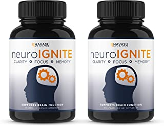Havasu Nutrition Extra Strength Brain Supplement for Focus, Energy, Memory & Clarity - Mental Performance Nootropic with St Johns Wort - Supports Brain Function for Men & Women - 30 Capsules (2)