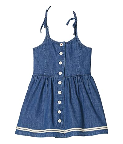 Polo Ralph Lauren Kids Denim Fit-and-Flare Dress (Toddler) (Laurens Wash) Girl