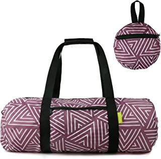 Foldable Travel Duffel Bag Lightweight Carry On Luggage with Zipper Waterproof for Men Women