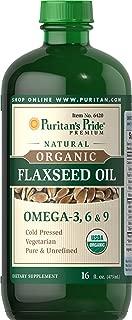 Best puritan's pride organic flaxseed oil Reviews