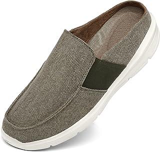 INMINPIN Uomo Pantofole Interno/Esterno in Tela Ciabatte Casa in Memory Foam Leggere e Comode