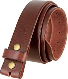 MONIQUE Men Genuine Vintage Retro Circle Studs Top Grain Leather 1.5 Wide Belt
