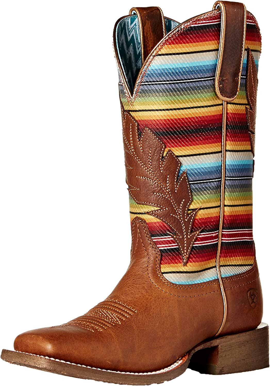 ARIAT Women's Circuit Feather Boot, Autumn tan, 5.5 B US