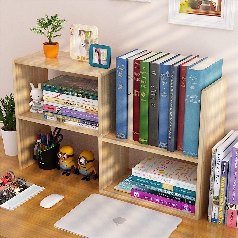 Book Stands Max 58% OFF Soldering Mini Wooden Bookshelf Simple Desk Double Shelf