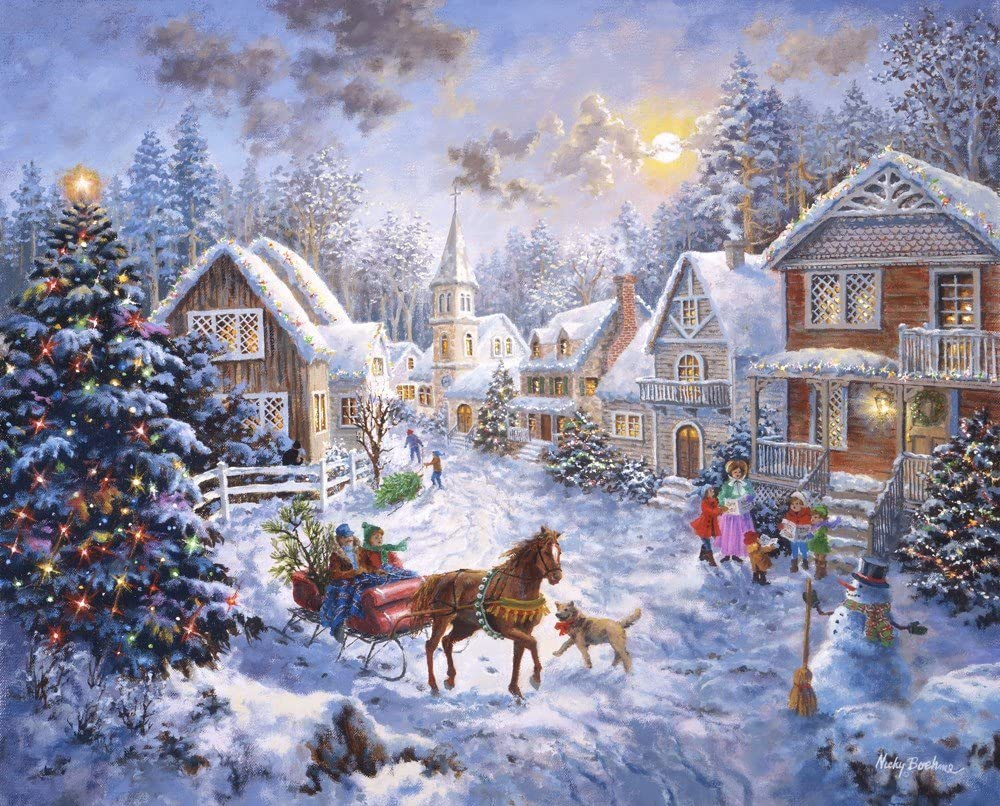 Merry Christmas By Nicky Boehme Art Print 27 X 21 Inches Posters Prints