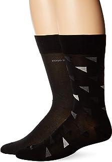 HUGO BOSS Mens Marc Design Crew Socks