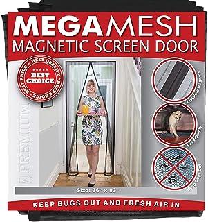 Magnetic Screen Door – Heavy Duty Reinforced Mesh & Full Frame Hook & Loop..