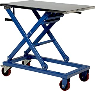 Vestil CART-660-M Steel Mechanical Scissor Cart, 660 lbs Capacity, 37