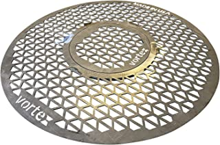 VORTEX (IN)DIRECT HEAT Grill Grate Replacement for 22 Kettle, UDS OR KAMADO Style Charcoal BBQS with Removable Searing Gra...