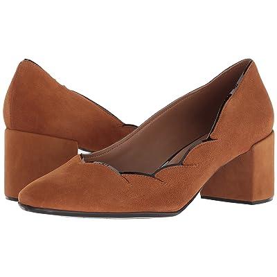 French Sole Couplet Heel (Cognac Suede) Women