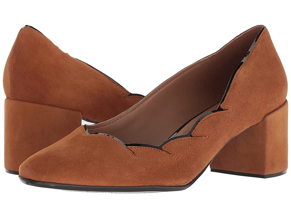 French Sole Couplet Heel (Cognac Suede) Women