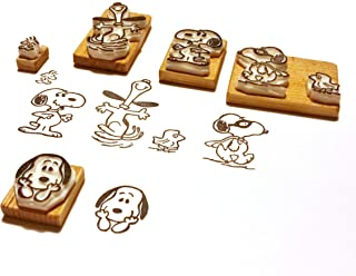 Snoopy Set - Inspired by Peanuts - Hand carved rubber stamp set