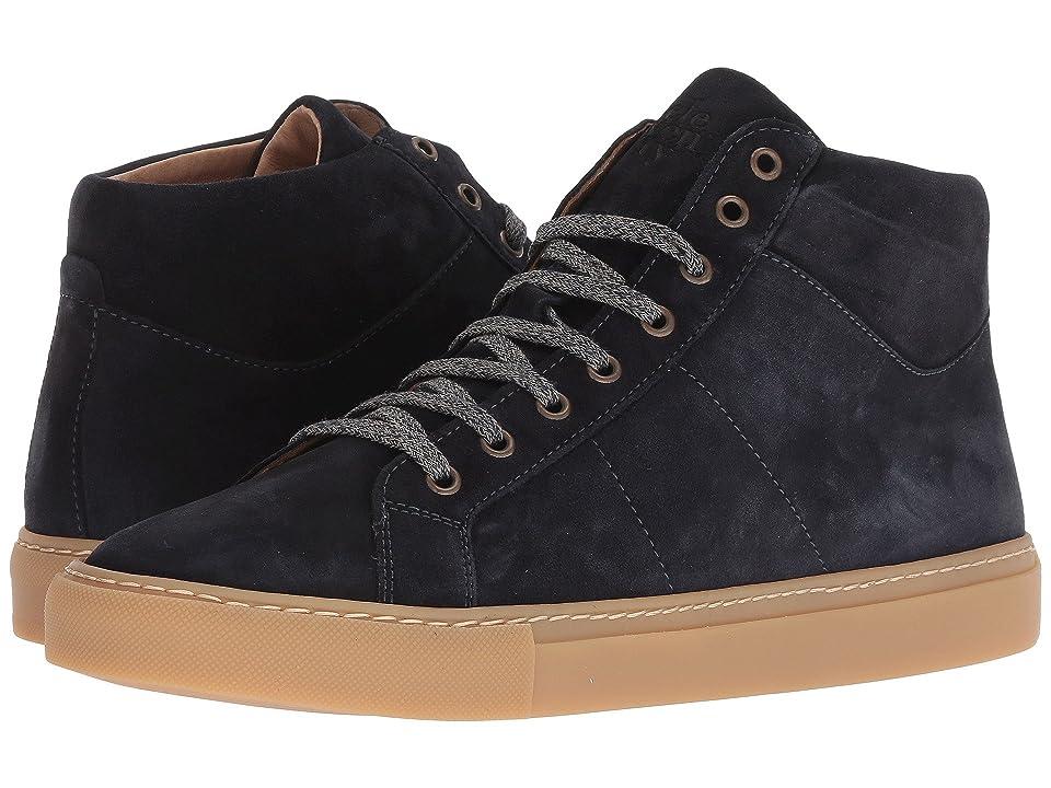 eleventy High Top Suede Sneaker (Navy) Men