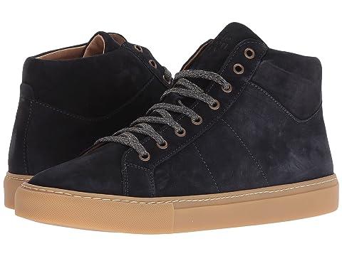 eleventy High Top Suede Sneaker