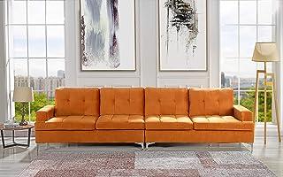 Amazon Com Orange Sofas Amp Couches Living Room
