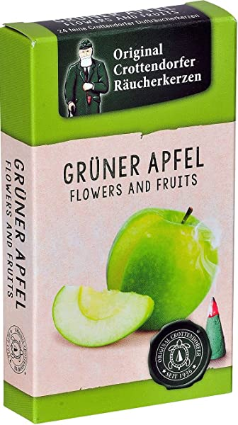 Pinnacle Peak Trading Company Crottendorfer Green Apple Scent German Incense Cones For Christmas Smokers